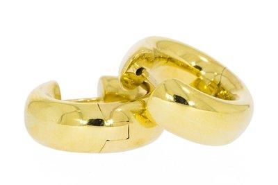18 karaat geel gouden (bol-) Creolen