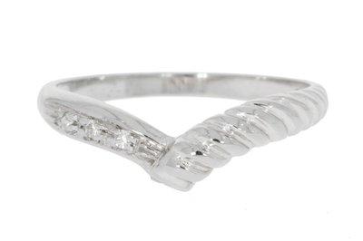 18 Karaat witgouden Fantasie Ring gezet met Diamant