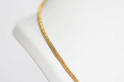 14K Gouden dubbel Gourmet Collier - 100 cm