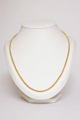 14 Karaat geel gouden Gourmet schakelketting - 100 cm