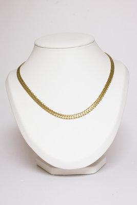 14 Karaat gouden geslepen & gewalste Gourmet Collier - 42 cm