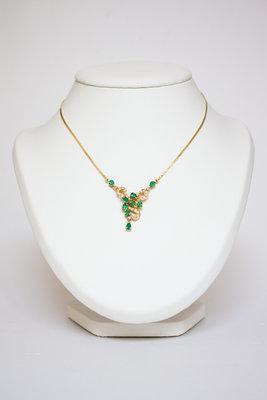 Gouden Collier met Smaragd & Diamant
