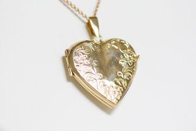 14 karaat gouden Hart Medaillon - Hanger