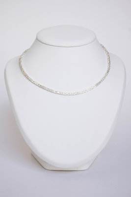 Zilveren Konings ketting- 45 CM