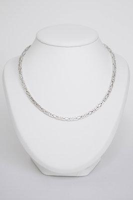 Zilveren Konings ketting (Byzanthijns) - 56 CM