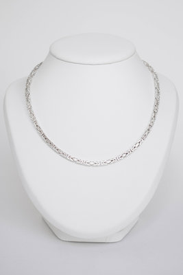 Zilveren Koningsketting- 45 cm