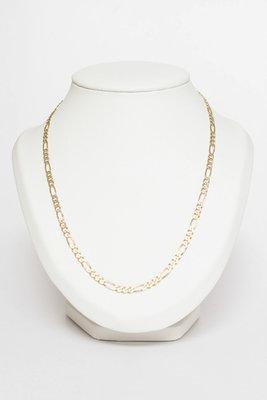 14 K gouden Figaro schakel ketting-62 cm