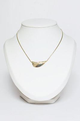 14 Karaat geelgouden Omega Collier met Hanger - 42 cm