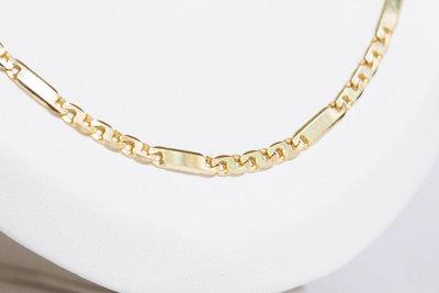 14 K Gouden Figaro Ketting- 58 cm VERKOCHT