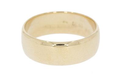 14 K Gouden Brede Aller Spanninga Trouw Ring