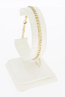 14 K gouden schakel armband - 20 cm
