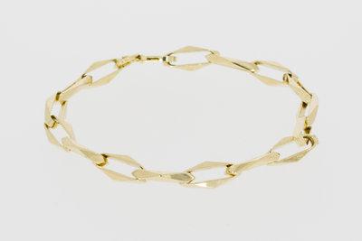 Gouden Closed Forever schakelarmband-20 cm