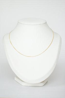 14 Karaat geel gouden Gourmet schakel Collier - 47 cm