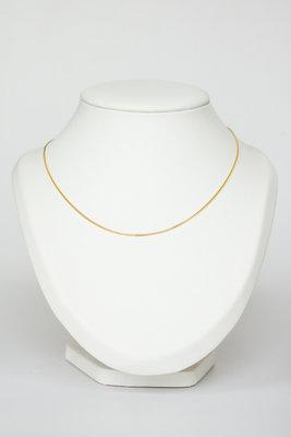 14 karaat geel gouden Gourmet schakel Collier - 46 cm
