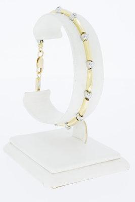 "18K bicolor gouden ""Tennis Bracelet"" armband met diamant-19 cm"