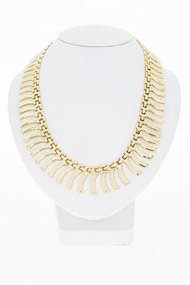14 karaat Gouden staafjes collier - 46 cm