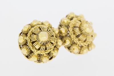 14 K gouden Zeeuws Knopjes Broche