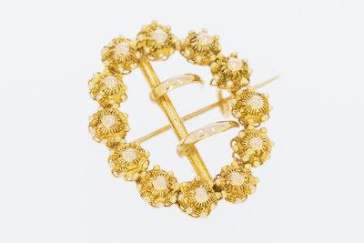 14 K gouden Broche