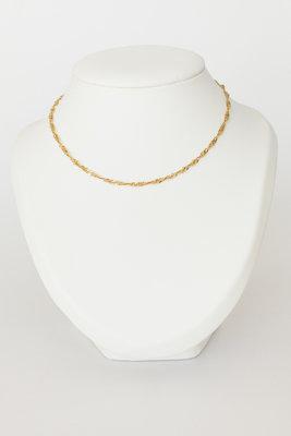 14 K gouden getordeerde Gourmet ketting- 41 cm