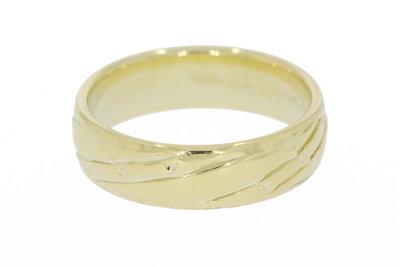 14K gefigureerde gouden trouwring