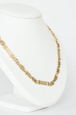 14 K bicolor gouden Rolex schakelketting