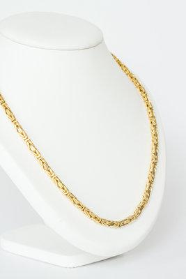14K gouden koningsketting (byzantijns)- 65,5 cm