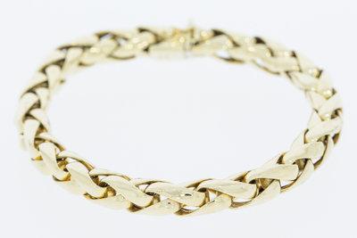 14 K gouden Vossenstaart armband -22 cm