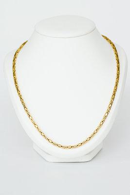 18 Karaat geelgouden Koningsketting -byzantijns- 60,5 cm