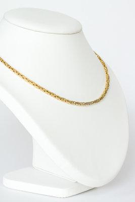 14K gouden koningsketting -byzantijns vierkant- 46 cm
