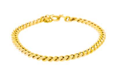 8 karaat (geel) Gourmet schakel armband - 20 cm