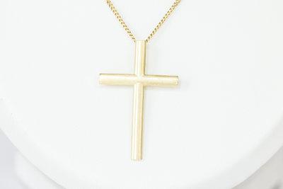"14 Karaat geel gouden ""Kruis"" - kettinghanger"