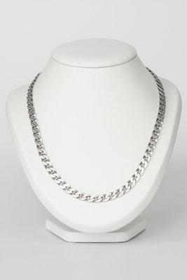 Zilveren Gourmet ketting- 56 cm