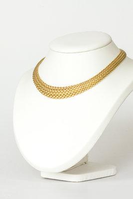 18 K gouden fijn schakel Collier
