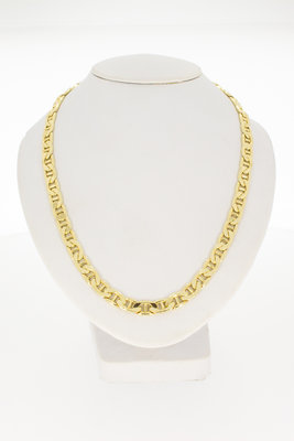 14k gouden platte Koningsketting- 50 cm