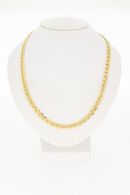 14 karaat geel gouden Anker ketting - 50 cm -