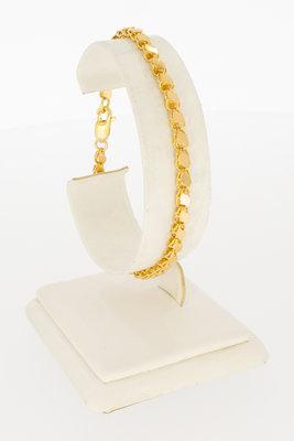 Rose gouden schakel armband-19,5 cm