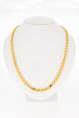 18K Rose gouden schakel ketting- 67,5 cm