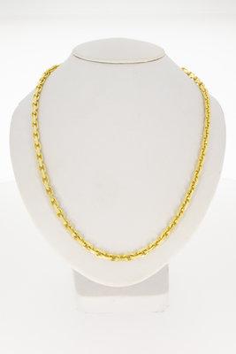 14 karaat geel gouden Anker ketting- 50 cm