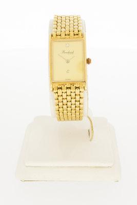 """14 Karaat geel gouden dames horloge """"Bouchard"""" VERKOCHT"""