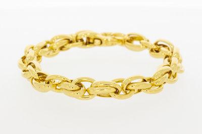 14 karaat gouden Anker schakelarmband - 20 cm