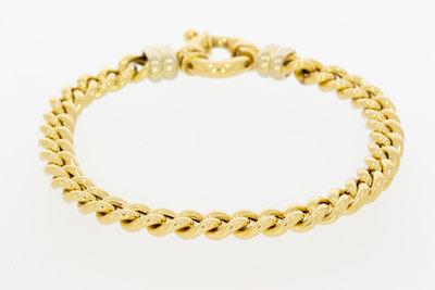 14k gouden Gourmet schakel armband- 18,5 cm VERKOCHT