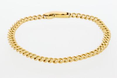 14 karaat geelgouden Gourmet schakel armband - 21 cm
