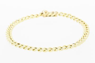 14 Karaat geelgouden Gourmet armband- 20,5cm VERKOCHT