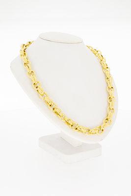 14 karaat gouden Anker schakelketting - 46 cm