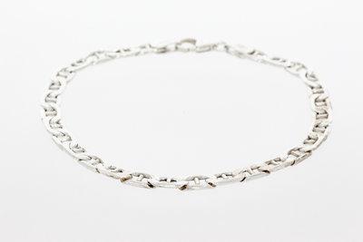 Zilveren Anker schakelarmband (925) - 19,5 cm