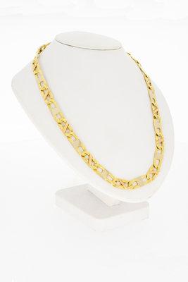 Tricolor gouden Rolex ketting-61,5 cm