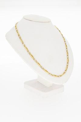 Bicolor gouden Valkoog ketting-46,5 cm