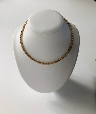 14 karaat Gouden Vossenstaart ketting - 45 cm