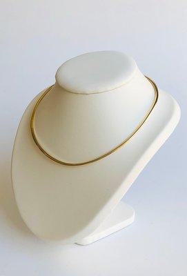 Gouden Omega Collier- 46 cm