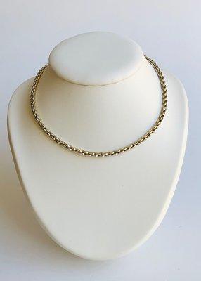 14k bicolor gouden ketting- 43,5 cm